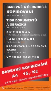 Služby - Směnárna Brzek